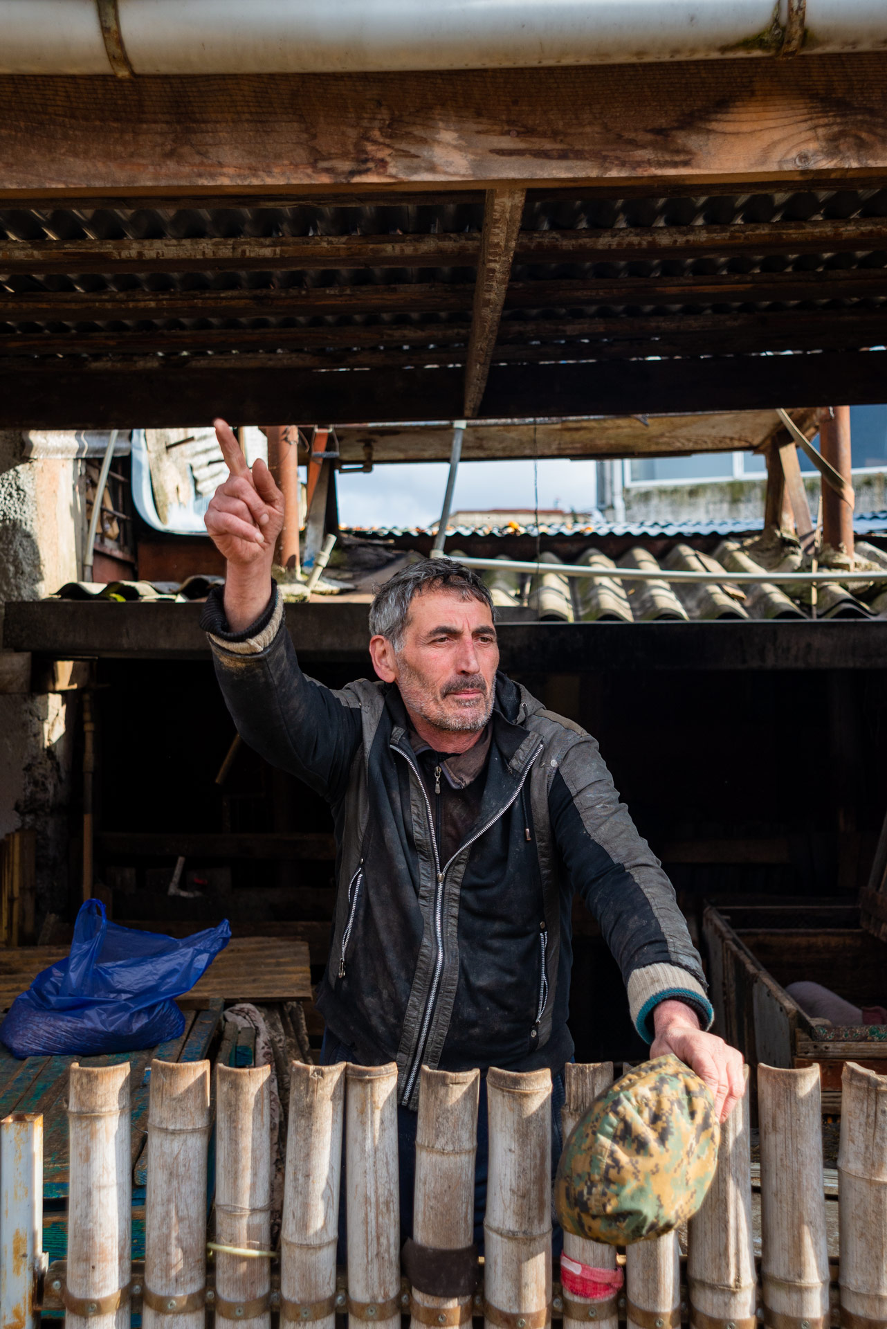 Another man I met in my first hours in Kutaisi, posing happily for the camera and inviting me to drink chacha with him.