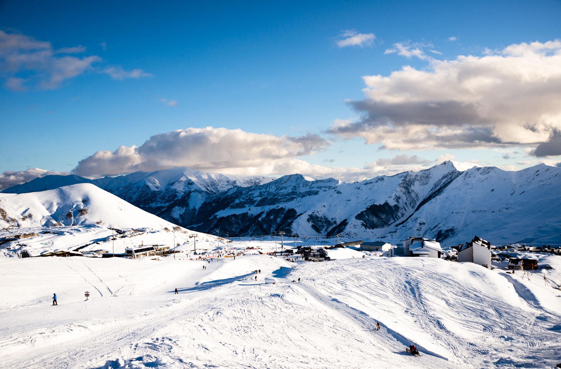 The ski-resort in Gudauri.