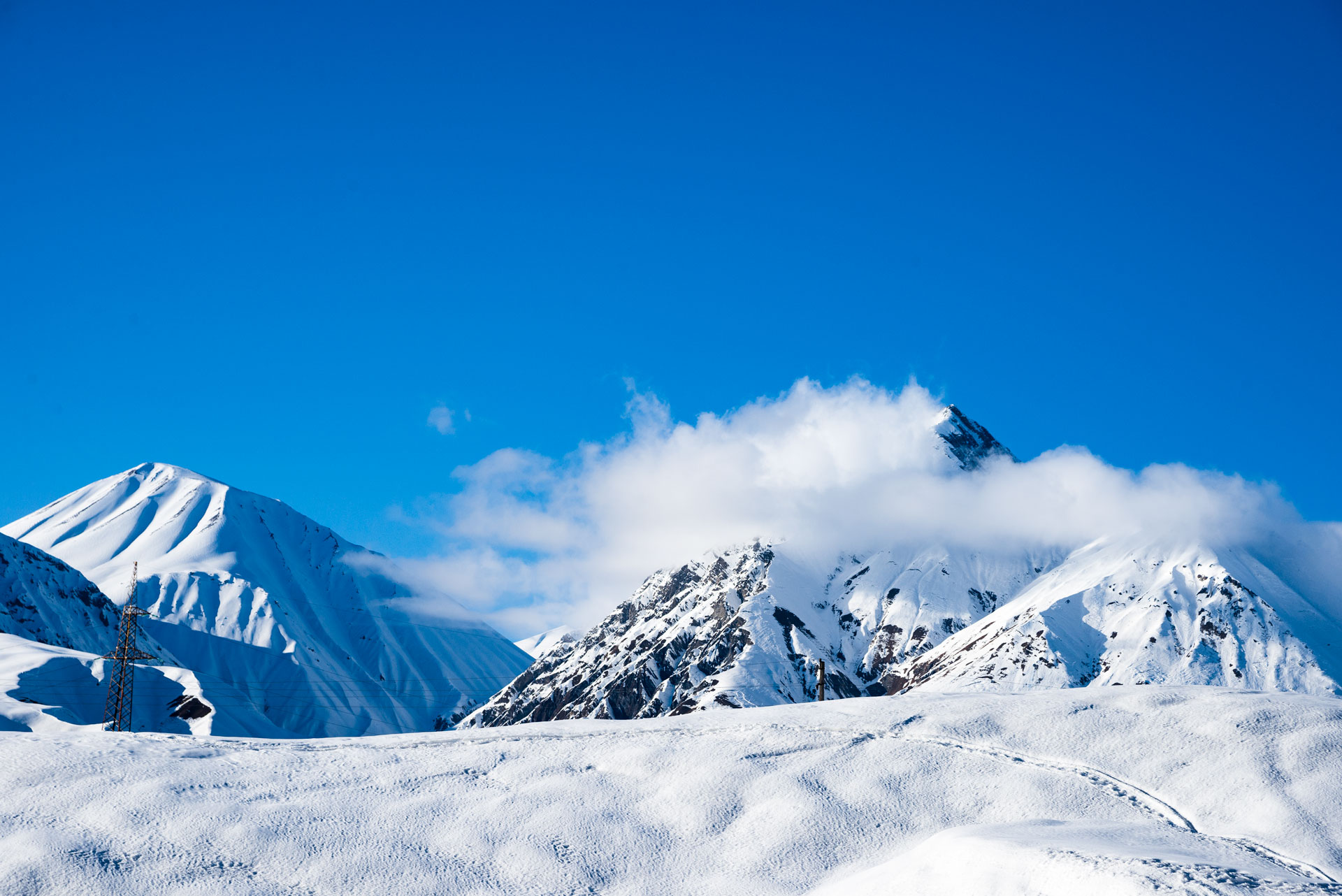 One of the most photogenic peaks we saw in Gudauri.