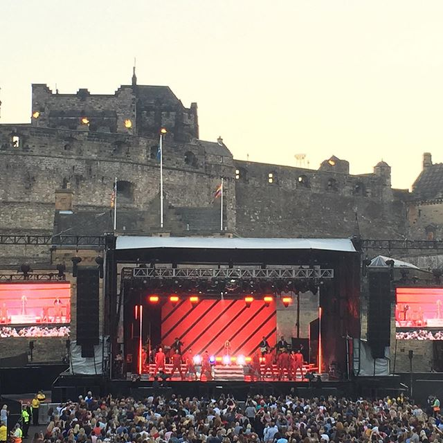 The summer Edinburgh Castle Concerts seem to get better every year. #edinburghcastle #kylie #thegardenflatedinburgh #livemusic