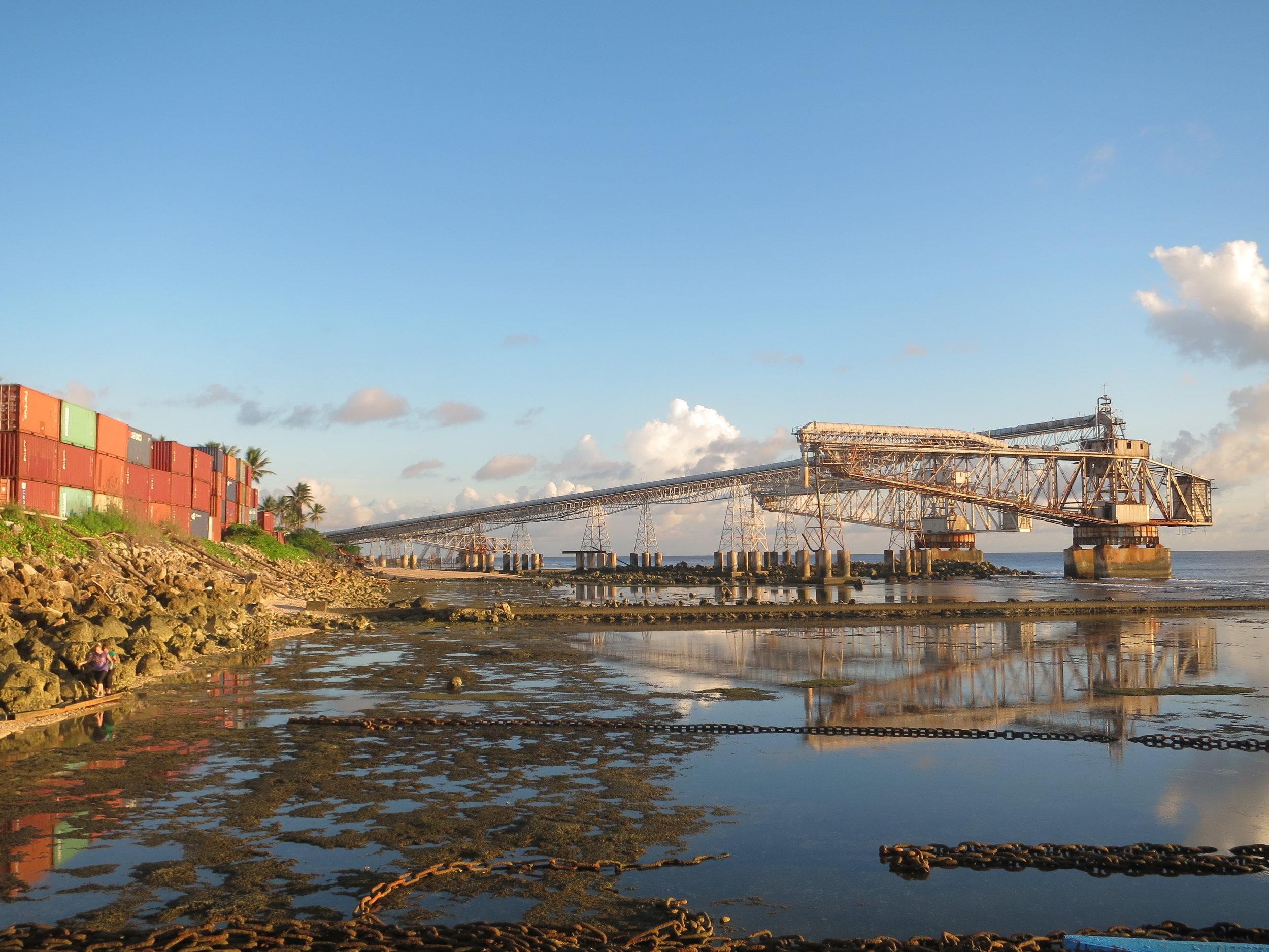 Phosphate loading bays in Nauru.