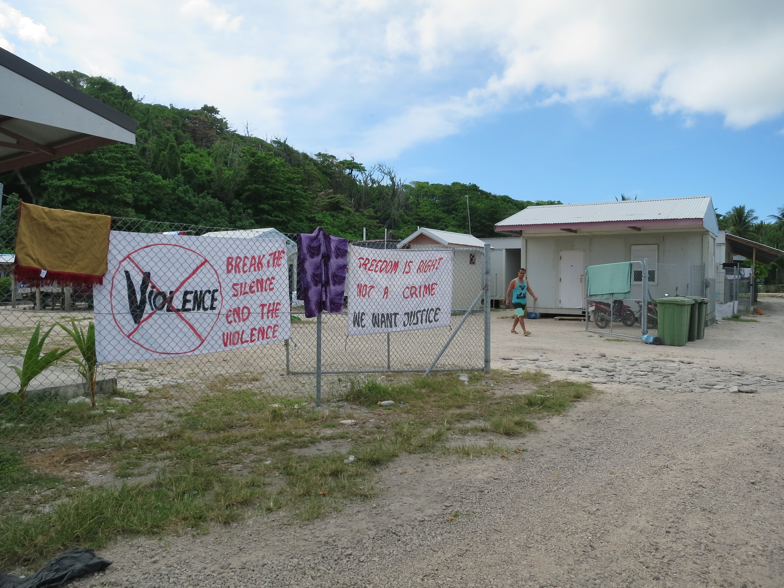 Copy of Refugee protests at resettlement housing compound in Nibok District, the Republic of Nauru.
