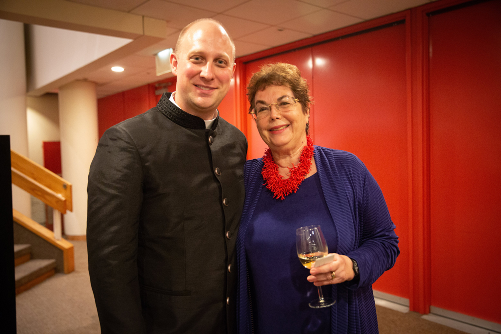 Pr. Jared Stahler and Nevelson biographer Laurie Wilson