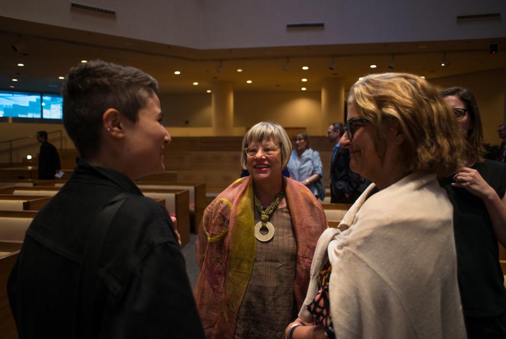 Adela Carbone, Karen Zukowski, and Henry Luce Foundation Program Director Terry Carbone