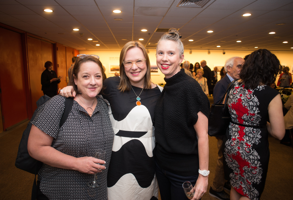 Architect Amy Lopez-Cepero, Nevelson Chapel fundraiser Mieke Vandersall, mixed media artist Megan Canning