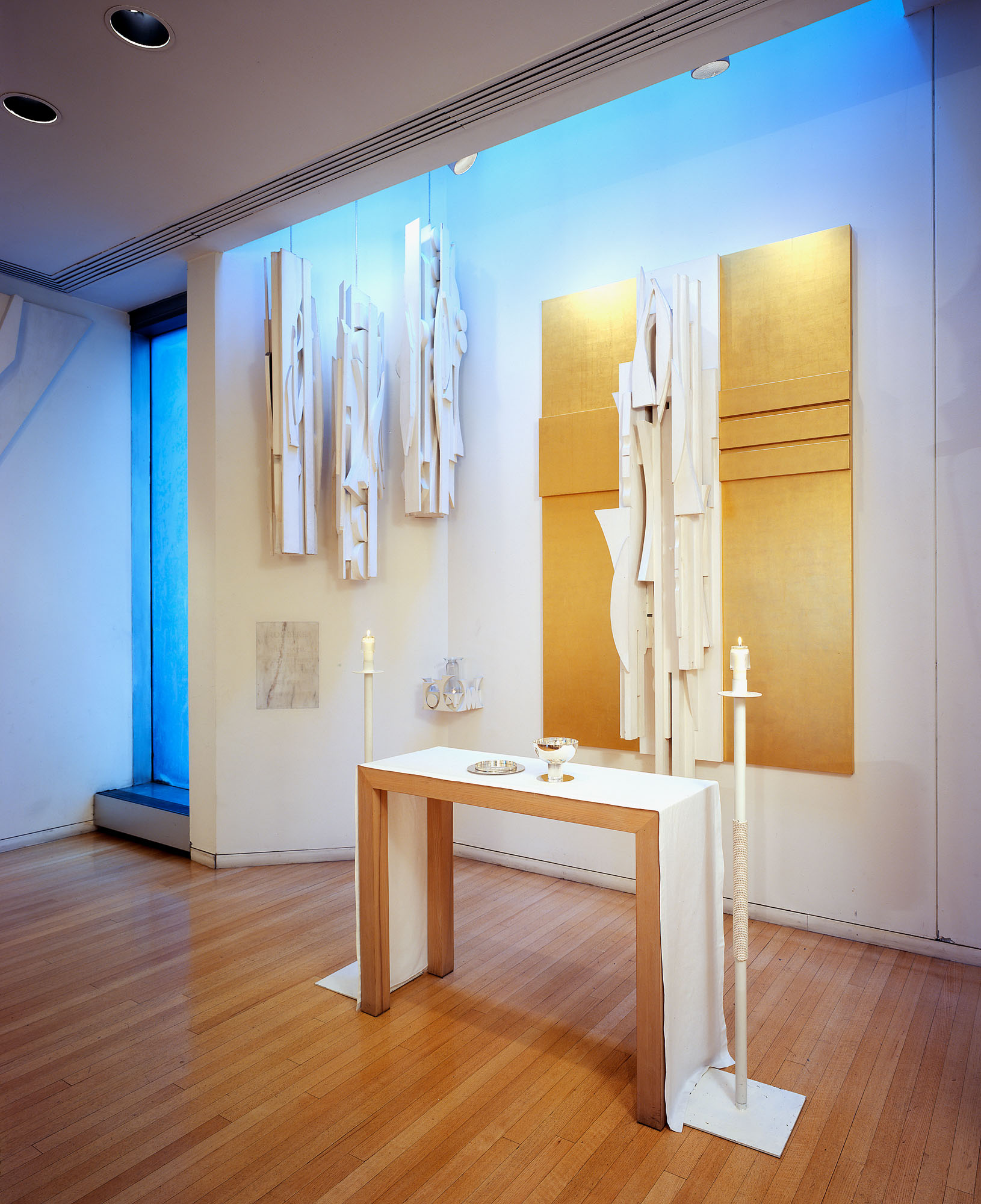 Trinity Columns installed at Nevelson Chapel