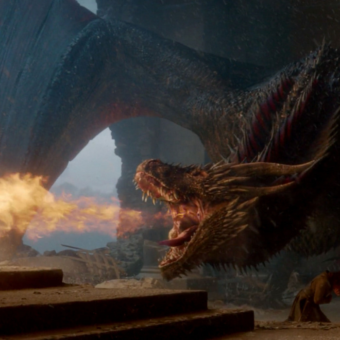 (Drogon destroys the Iron Throne, GoT Final Episode)