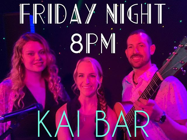 Friday night!! The trio returns to the always fun @kaibar_ in East Greenwich!! 8-11 pm playing all your favorites in three part harmony!! Join us!