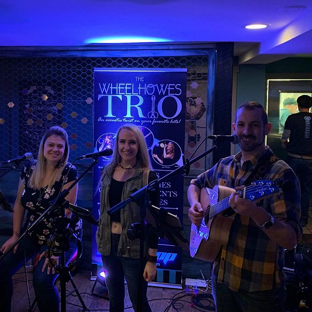 What a great crowd at our @back40ri debut last night. Great success!! Thank you so much to the staff for being so hospitable and the patrons for singing along with us! We will be back on Friday, November 29th! If you missed the action, pencil us into your calendars now! #back40Ri #acoustictrio #wheelhowestrio #northkingstownri