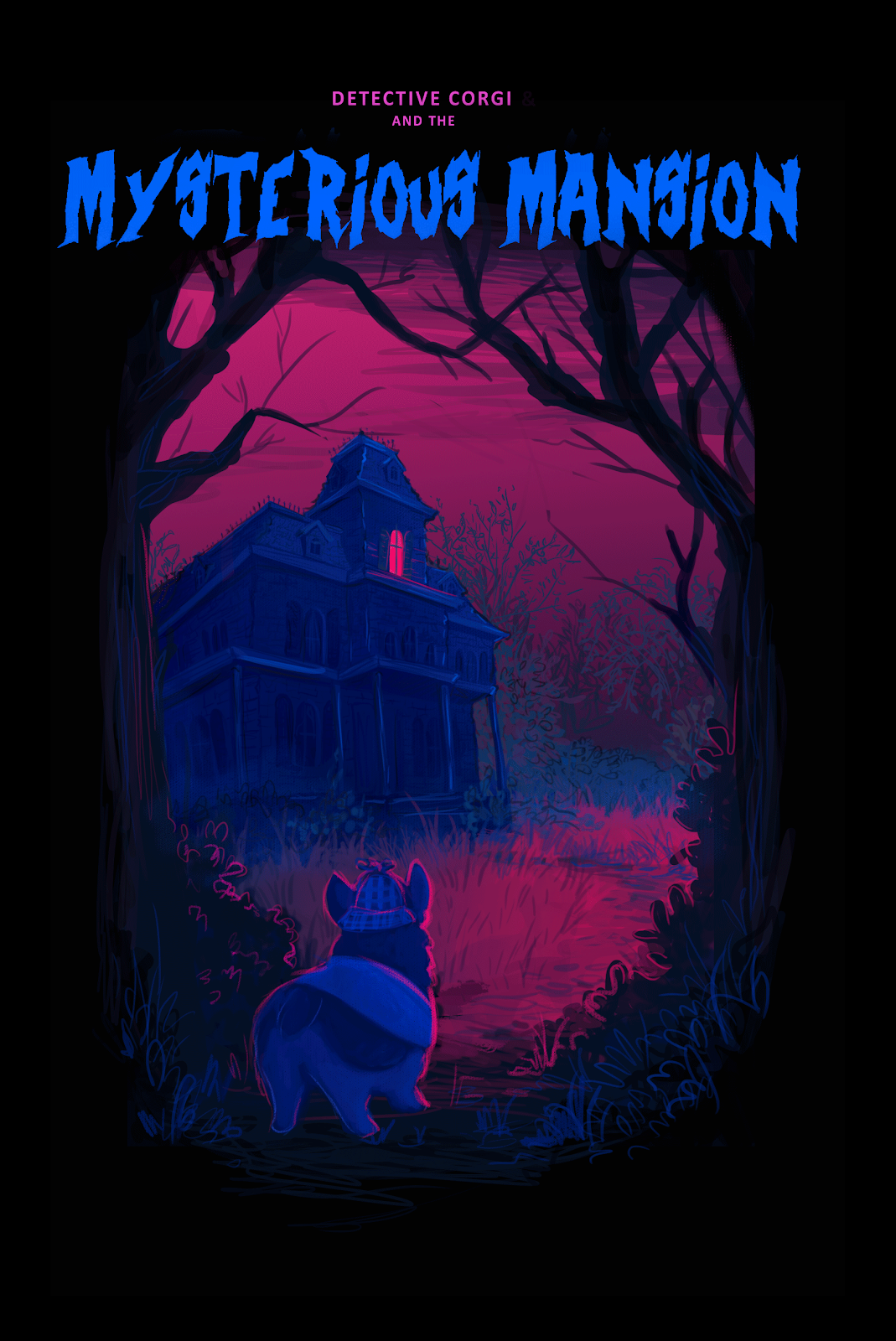 Poster for Detective Corgi and the Mysterious Mansion.