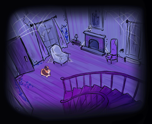 Background for Detective Corgi and the Mysterious Mansion.