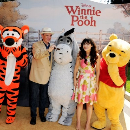 ZOOEY DESCHANEL AND WINNIE THE POOH TEAM UP THIS SPRING!