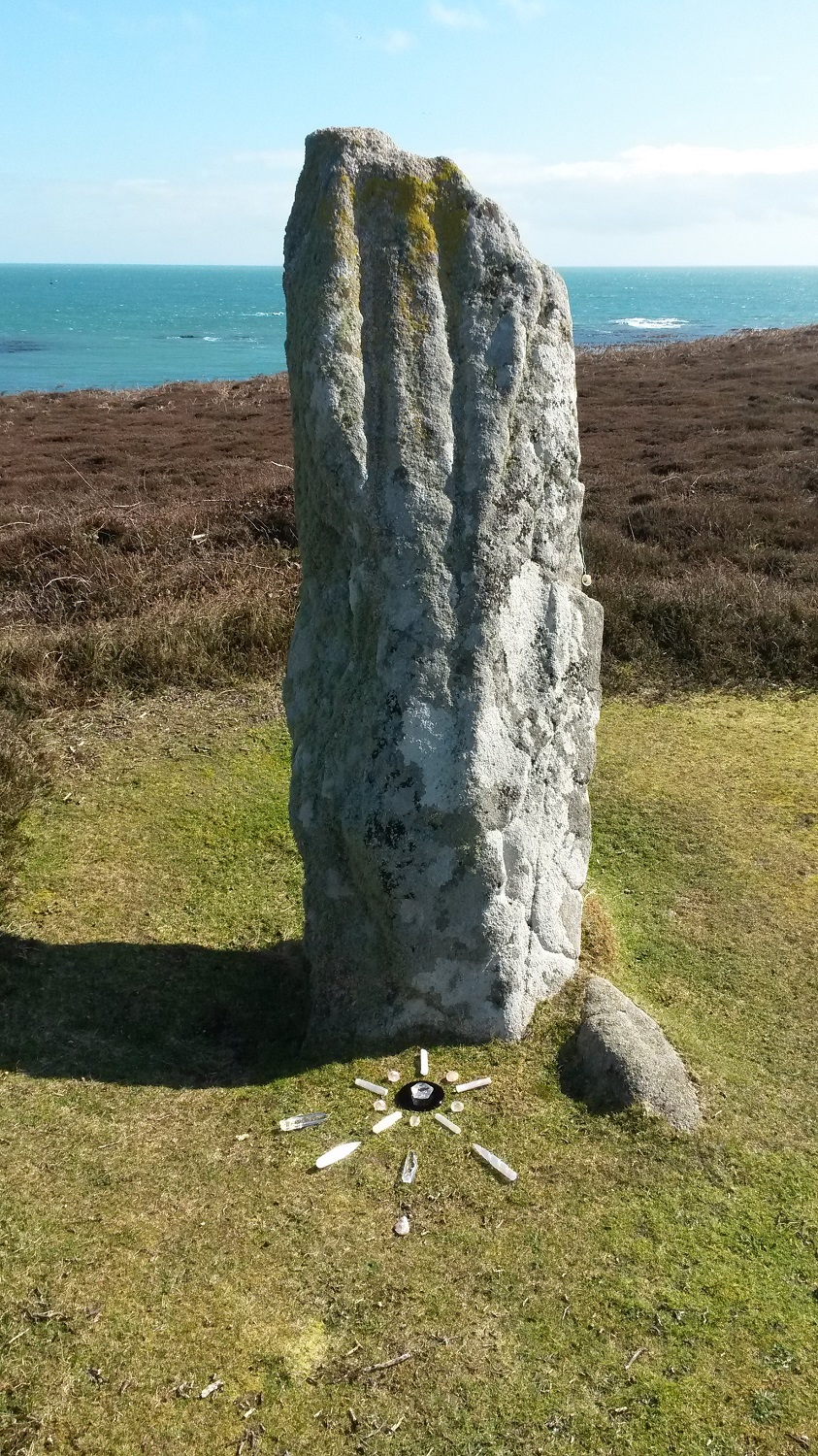 March 2015 Eclipse crystal grid at the Old Man of Gugh