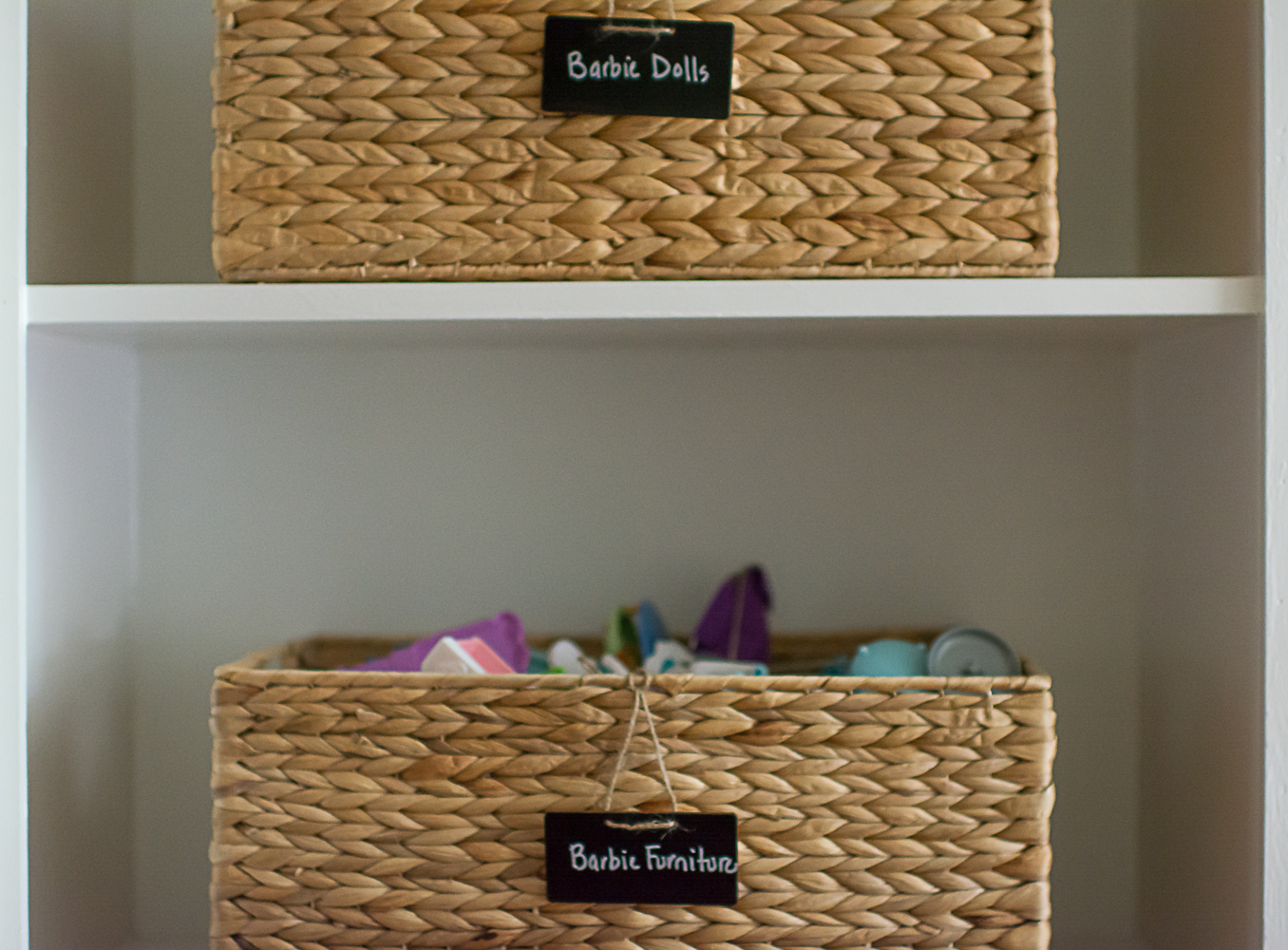 Baskets for Toy Storage in Playroom
