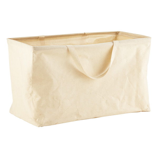 The Container Store Umbra Natural Rectangular Crunch Basket with Handles