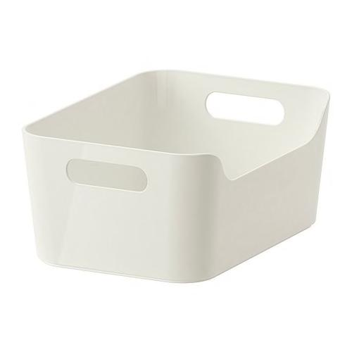 IKEA VARIERA Box Bin high gloss white