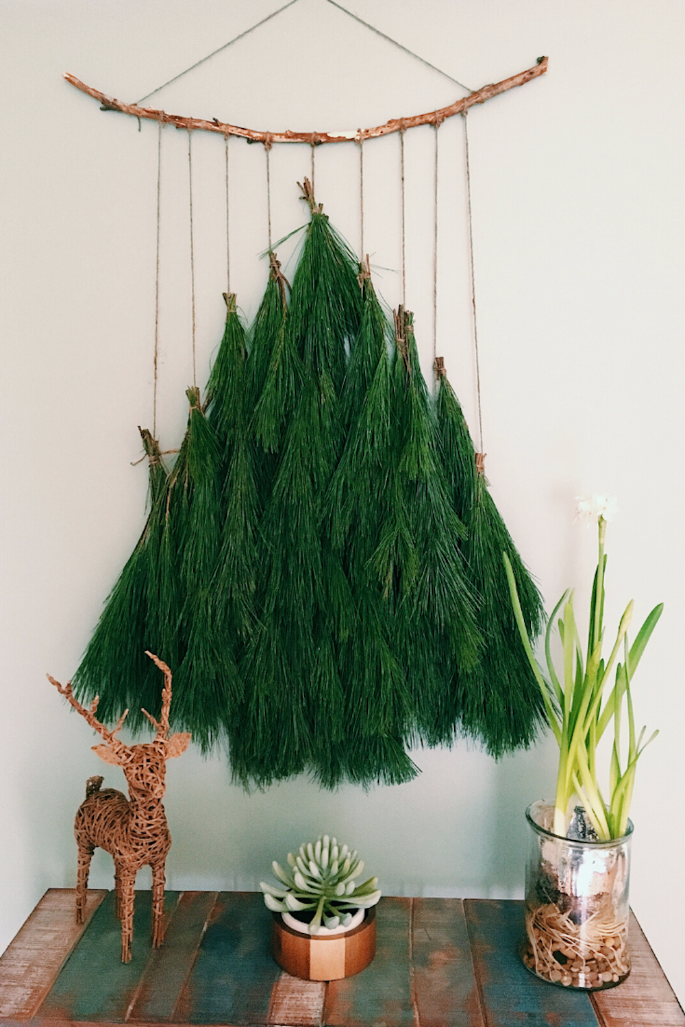 Likehome Christmas Tree Wall Hanging Decoration Diy