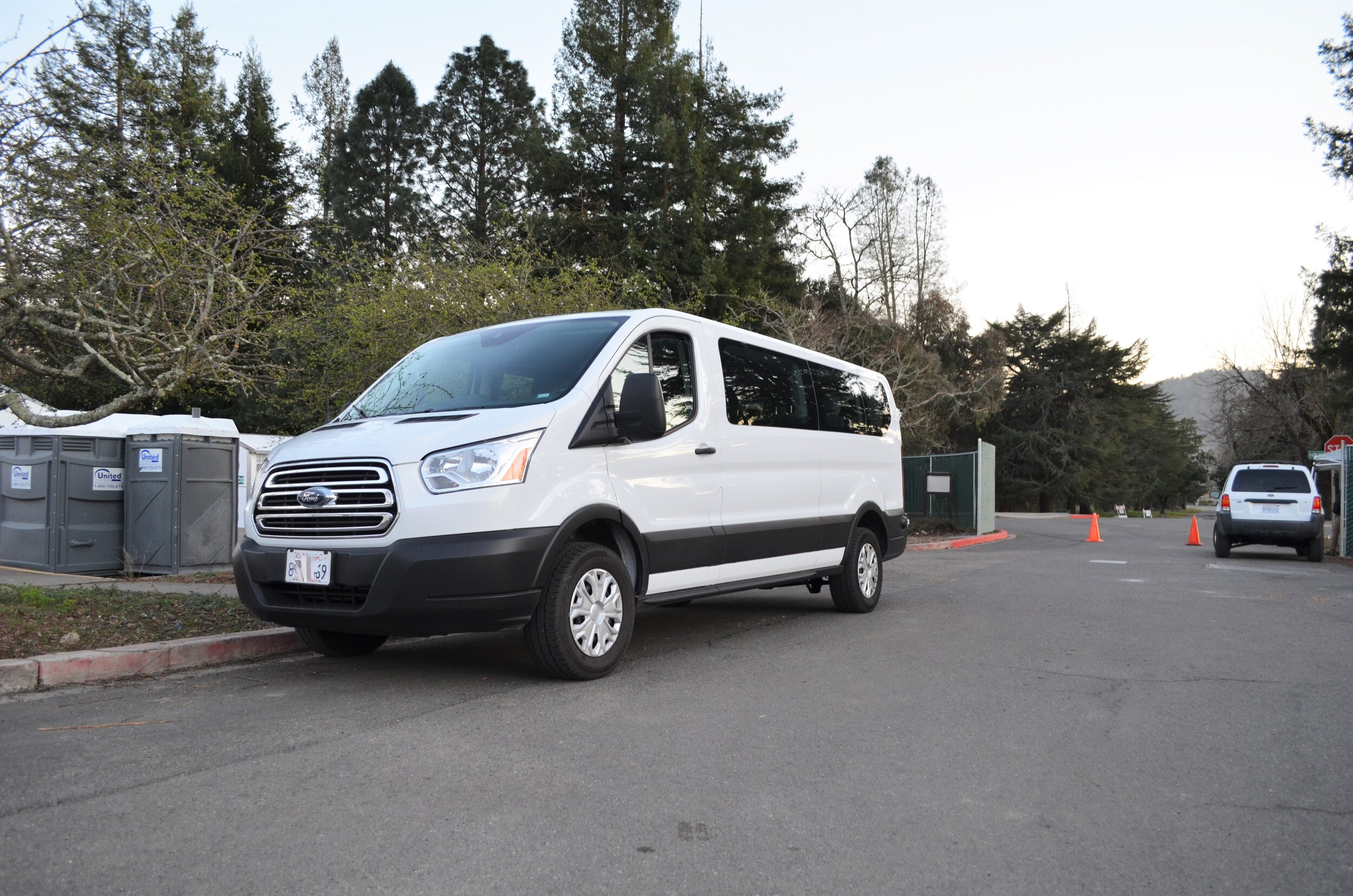 A shuttle service provides residents with a free ride into town throughout the day.