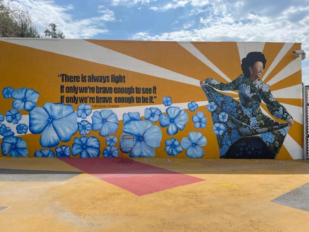 Mural at Chandler Blvd. Tiny Home Village. Photo courtesy Chris Hernandez