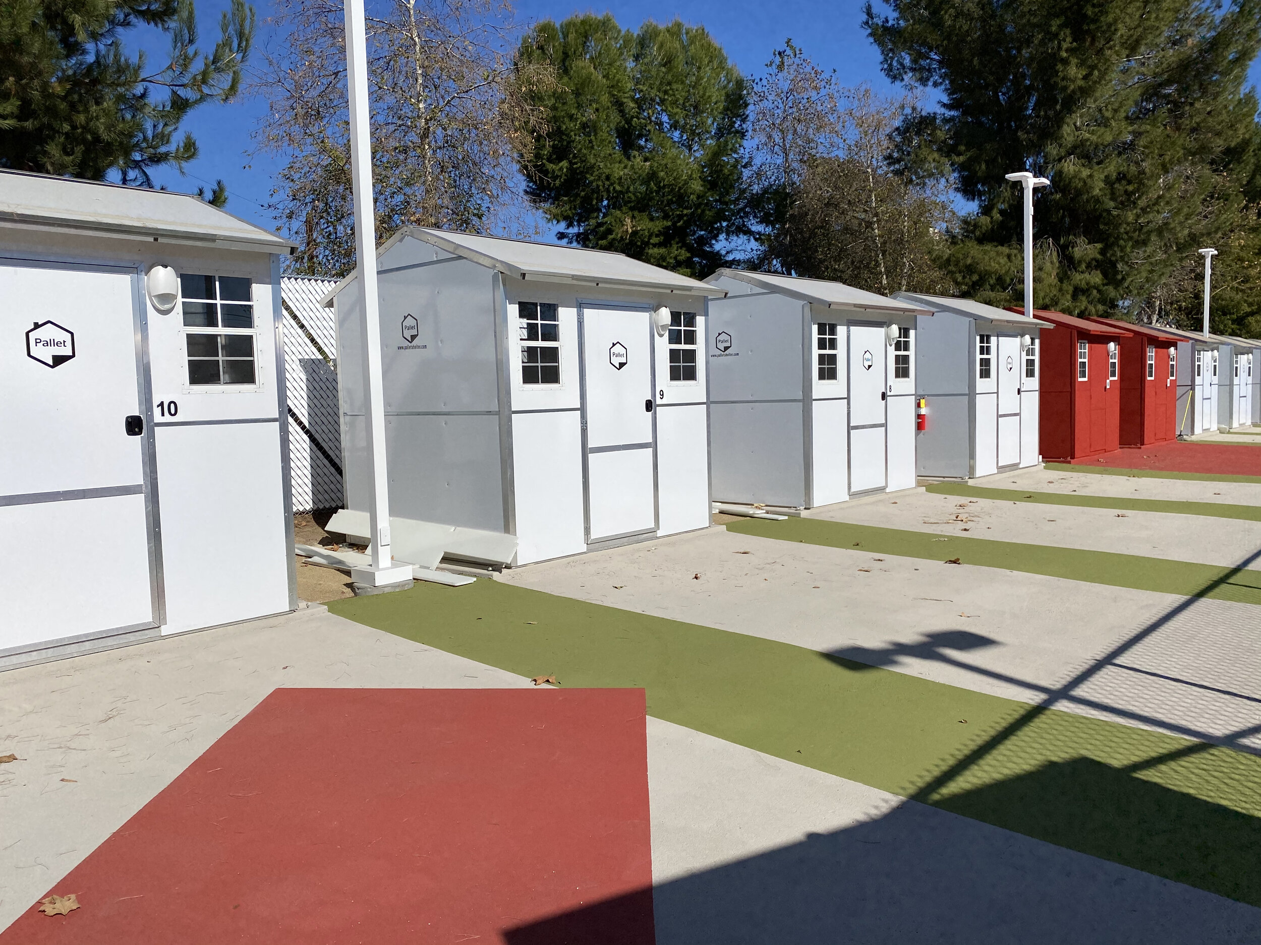 Chandler Blvd. Tiny Home Village in Los Angeles, California. Photo courtesy Hope of the Valley Rescue Mission