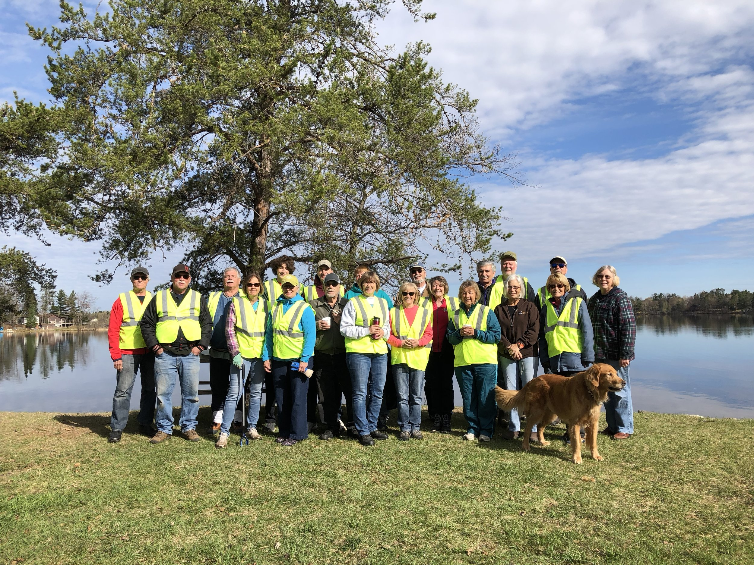 Spring road cleanup crew! Thanks all!