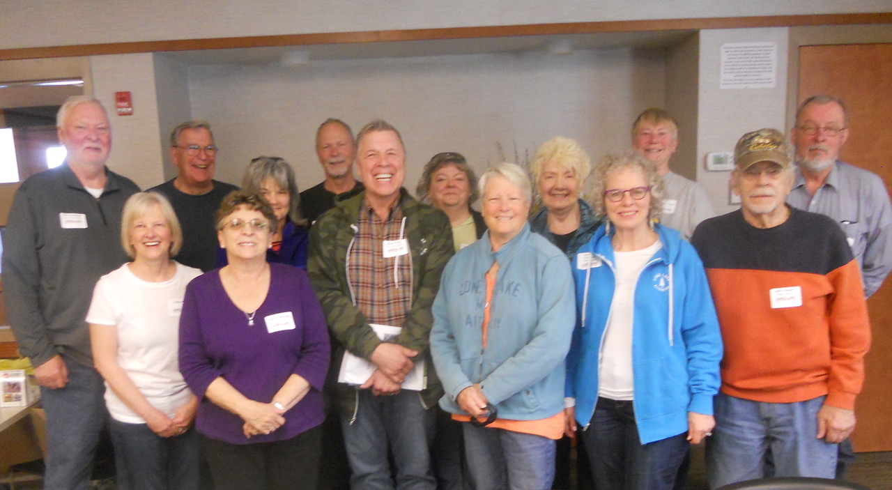 Your neighbors who participated in the 2019 Future of Lone Lake Planning Session  Front Row (l to r): Linda Kics, Dianne Weisser, Dean Frost, Maureen Sanford, Kathryn Engdahl, and Jerry Baker. Back Row: Bob Kosloski, Walt Weisser, Michelle Decker, Zint Kics, Linda Szymanski, Karen Frazier, Beth-Anne Rowe and Dave Scott