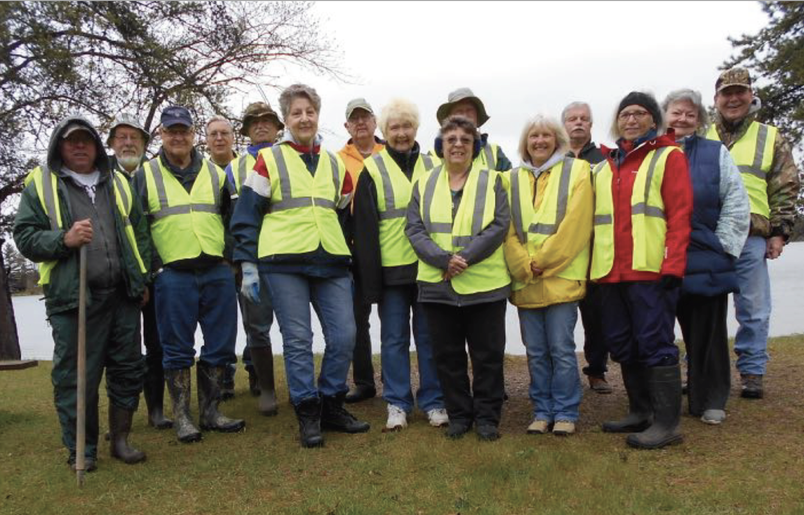 Even though the May 18 Road Clean-Up day was cool and rainy, the 15 volunteers stayed warm by enjoying hot coffee and rolls (donated by LLPOA member Mike Paulbeck, Paulbeck's County Market) before heading out to pick up trash along Hwy. 81 and 28. Thank you volunteers for braving the elements to help keep the environment around Lone Lake beautiful! Participants included Fred Lane, Dick Preiner, Jerry Nelson, Linda and Zint Kics, Mustafa Bulut, Walt and Dianne Weisser, Peggy Bragelman, David Scott, Jennifer O'Neill, Linda Syzmanski, Jim Benda and Karen and Steve Frazier.