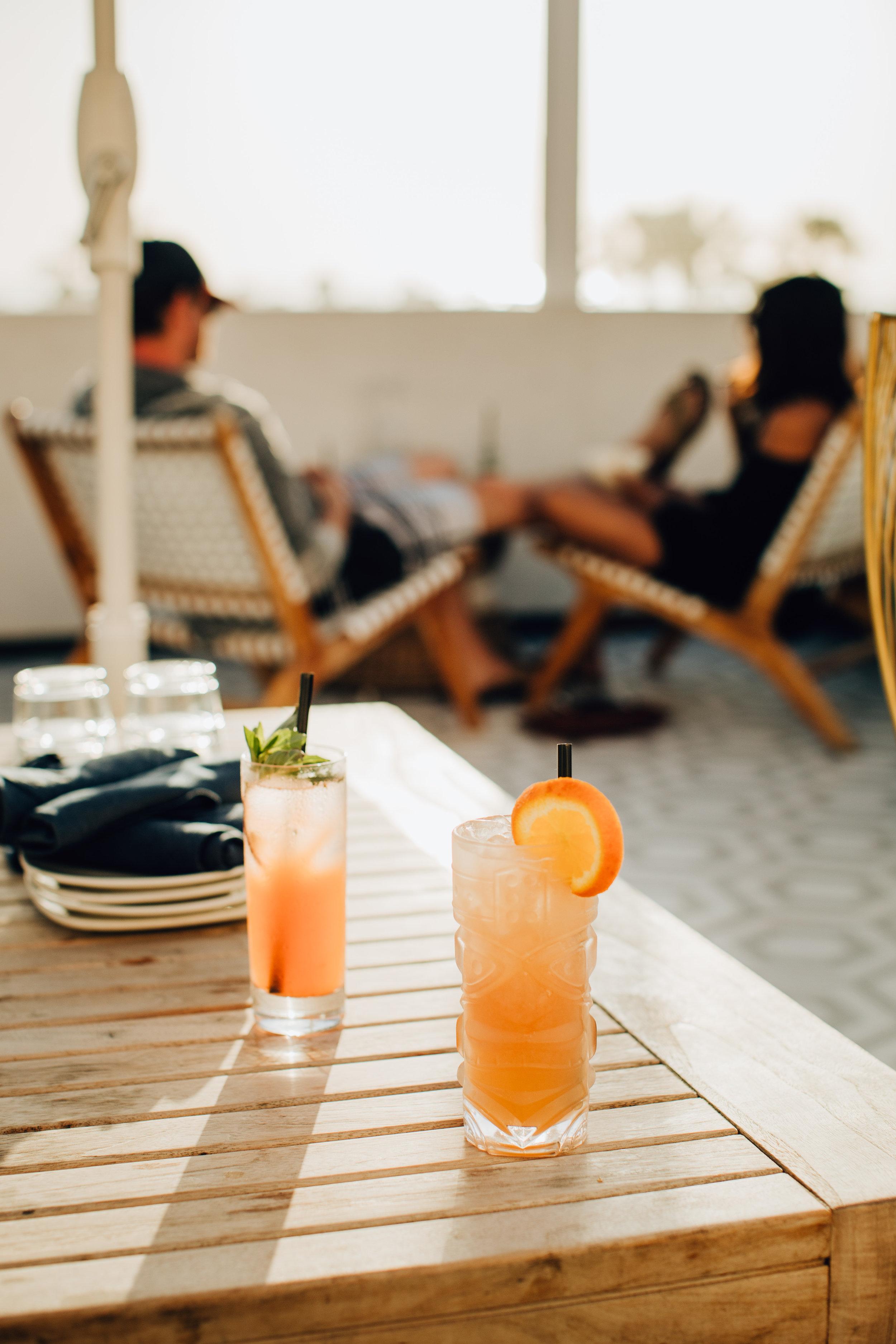 Orange Cocktails at Alta House