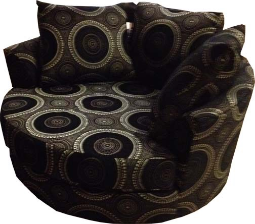 cuddle lounge blk swirls.JPG