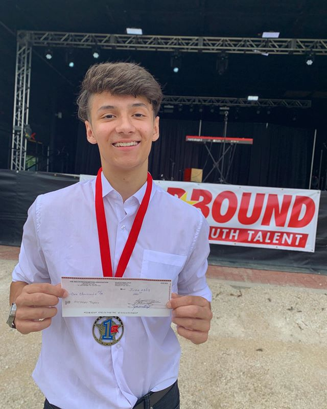 "CONGRATULATIONS @michaeltrojan04 🌟Michaels Tap Solo ""Rock It For Me"" won 1st Place & $1000 in the dance division at the @redriverex Starbound Talent Competition!! If you're at the Ex today - check out Michael in the FINALS @ 6:00pm 🙌🏼🔥"