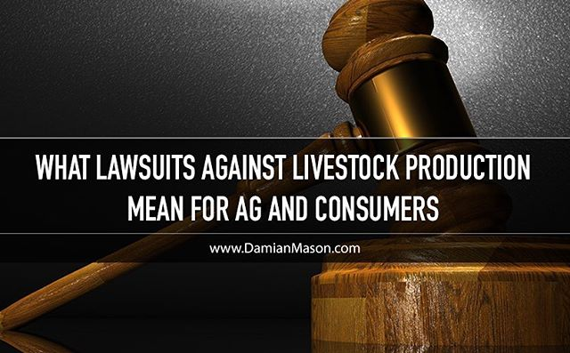 New blog posted at DamianMason.com - If you are following, or interested in, the lawsuits against livestock production, this will be a great read for you! #FactoryFarm #LifestockLawsuit #Pork #Farm #Farming #Hog #HogFarming #Ag #Agriculture #NewDamianBlog