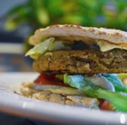 Maui vegan taro burger
