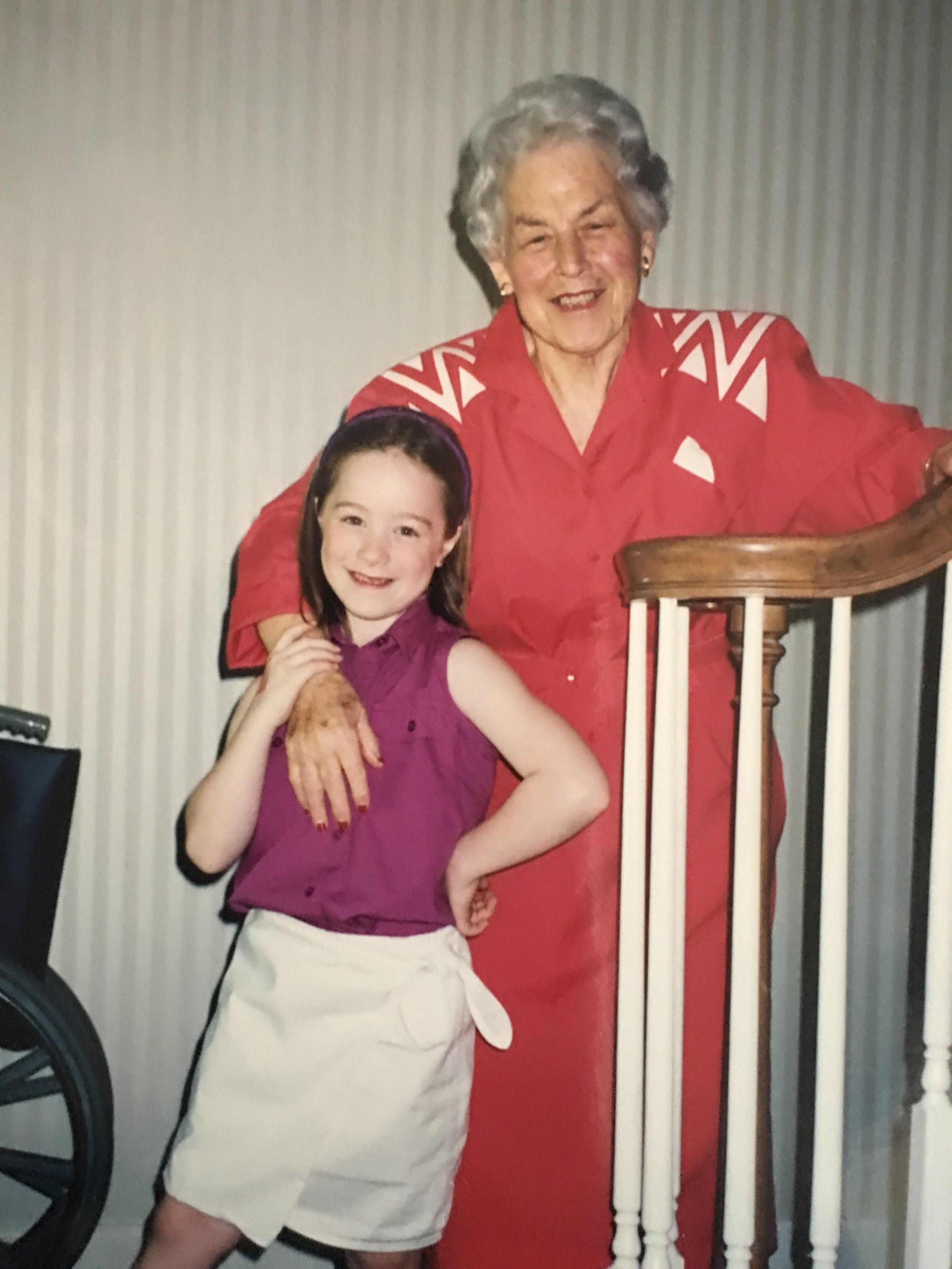 My sister, Sarah, and my Nana, Frances Lee.