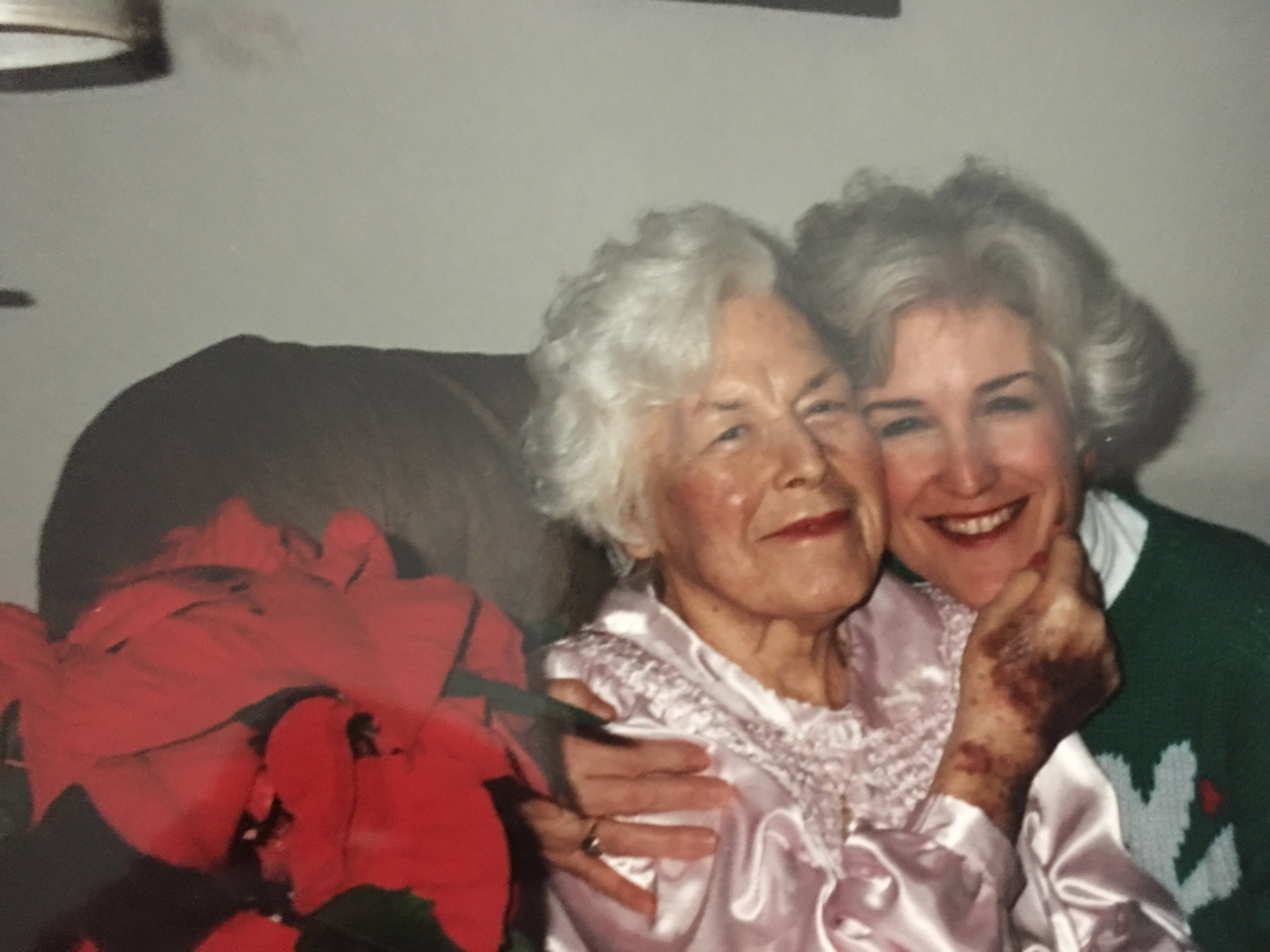 My mom and her mom, Nana.
