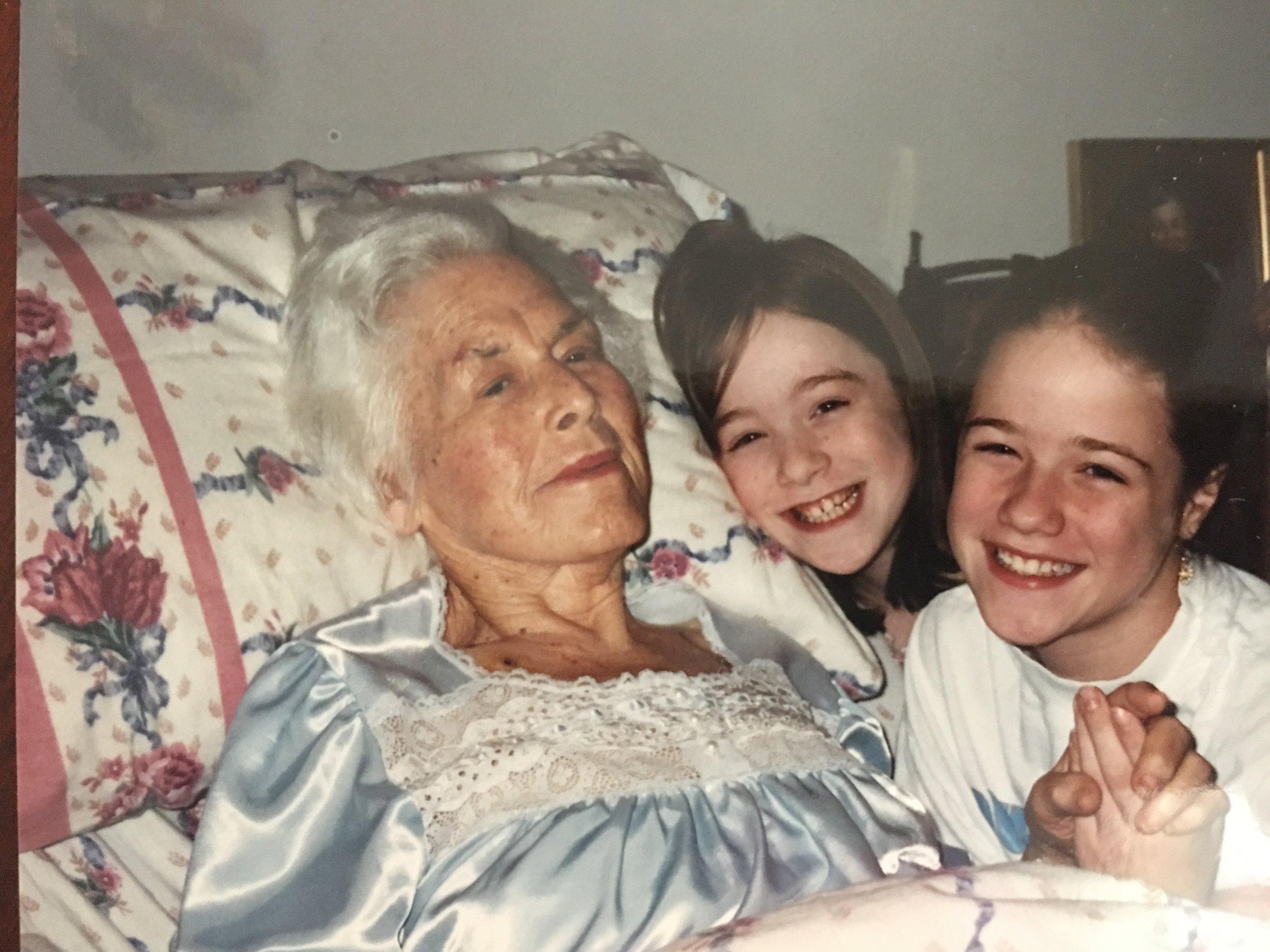 Nana, Sarah, and me.