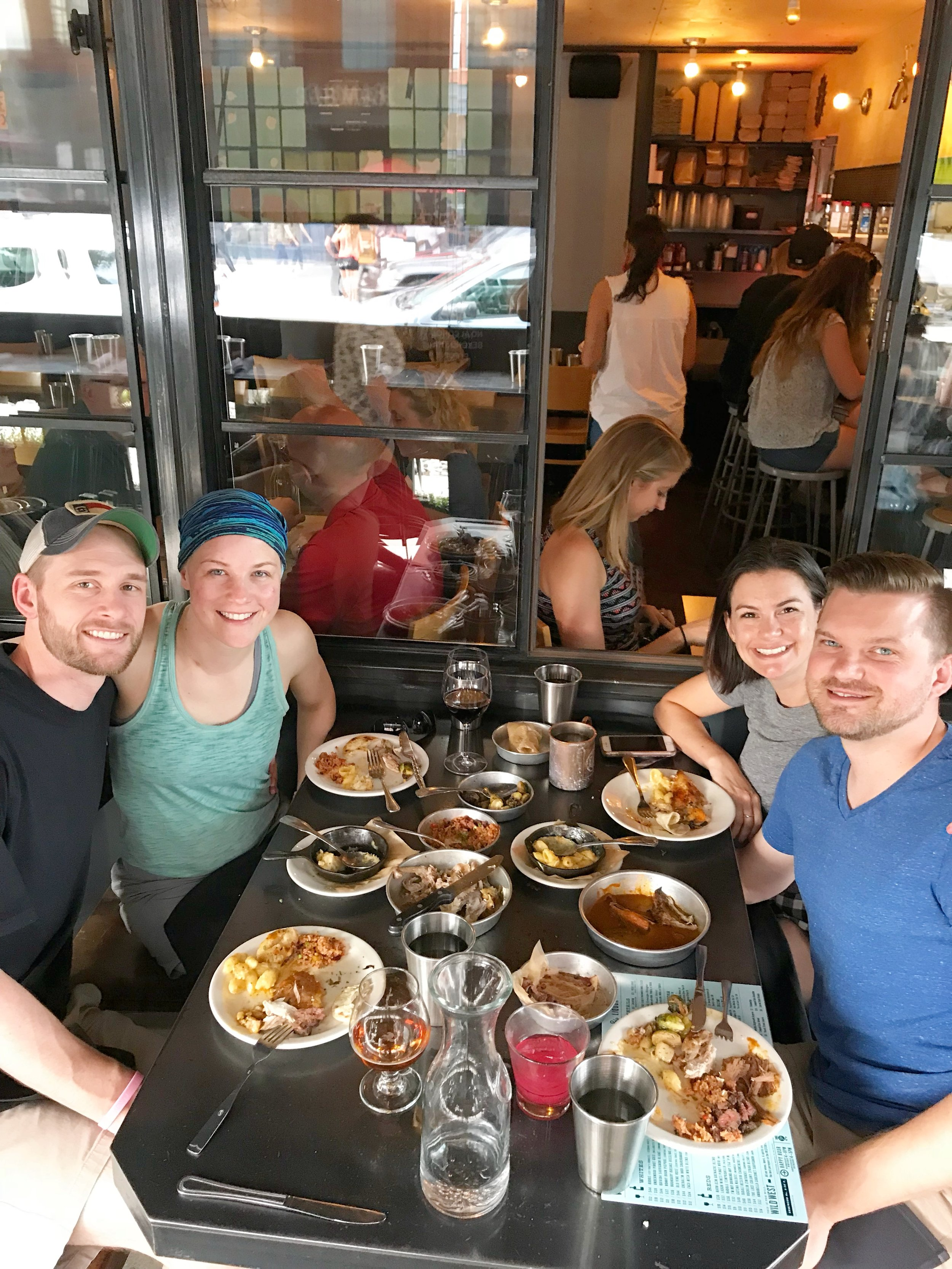 Me, Jennifer, Christy, and Patrick in Denver this summer. Not only did we catch The Avett Brothers at Red Rocks, we also ate a lot of good food like this meal at    Work & Class   !