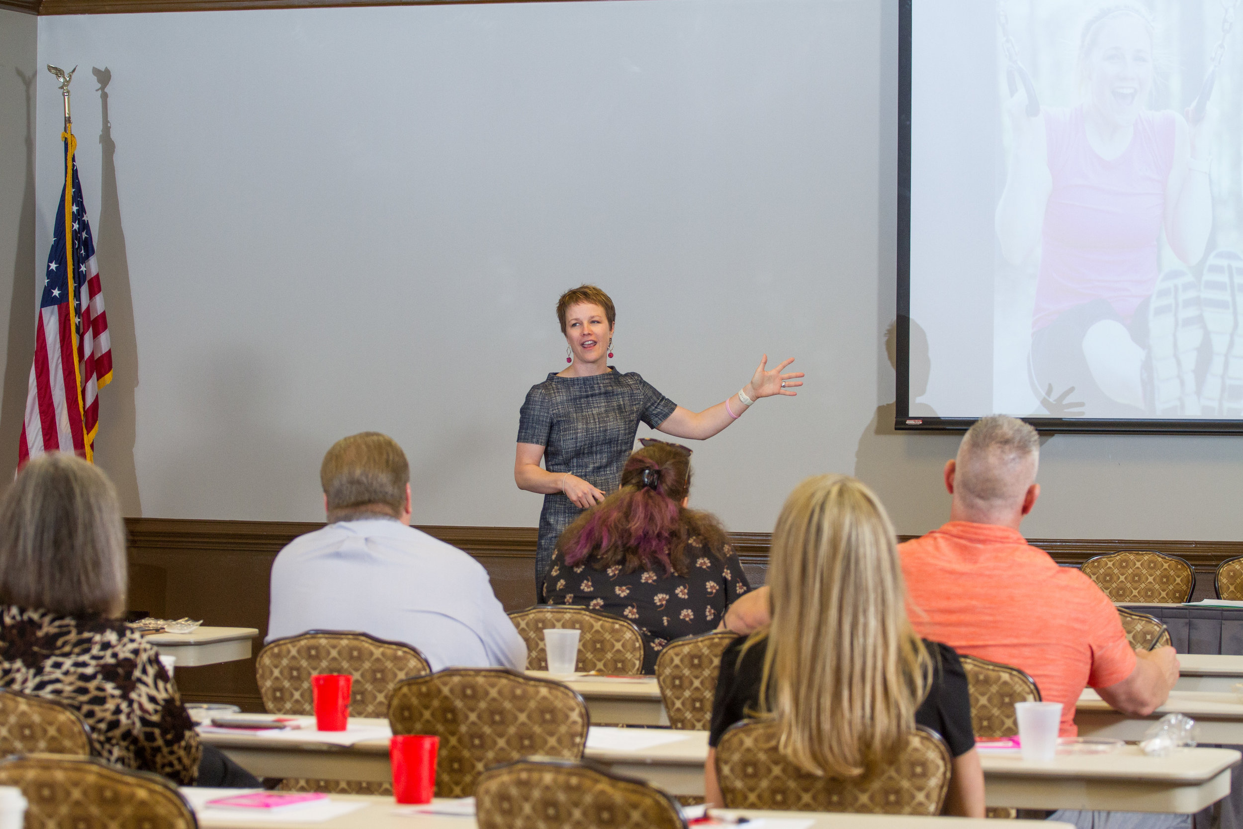 """Facilitating my """"Greater Than My Toughest Obstacles"""" workshop this week in Cary, NC."""