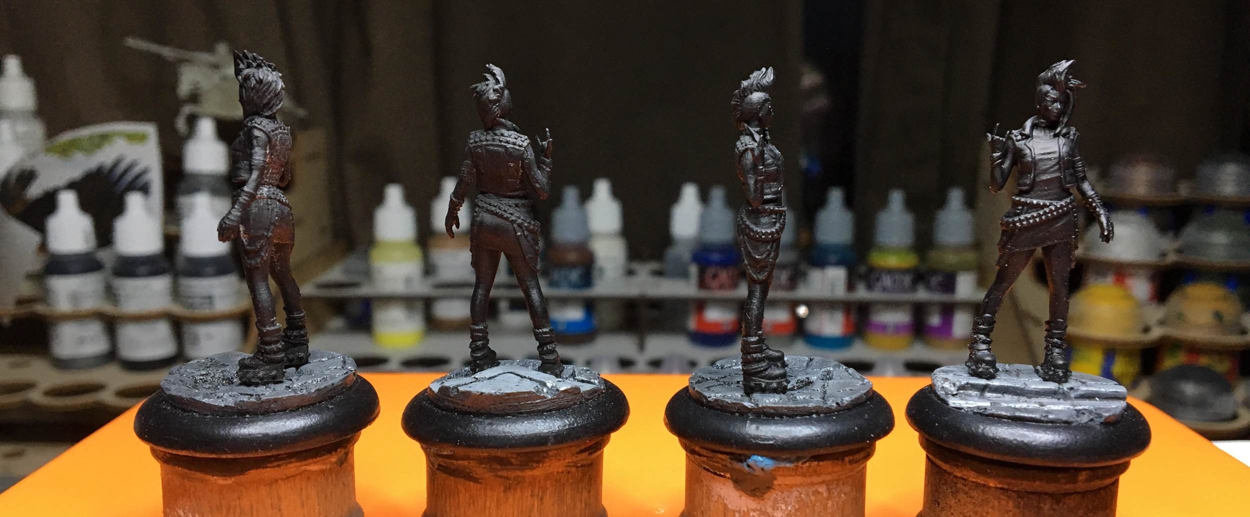 "These CyMS models have been glaring at me from my painting desk for weeks. ""Finish us"", they plead."