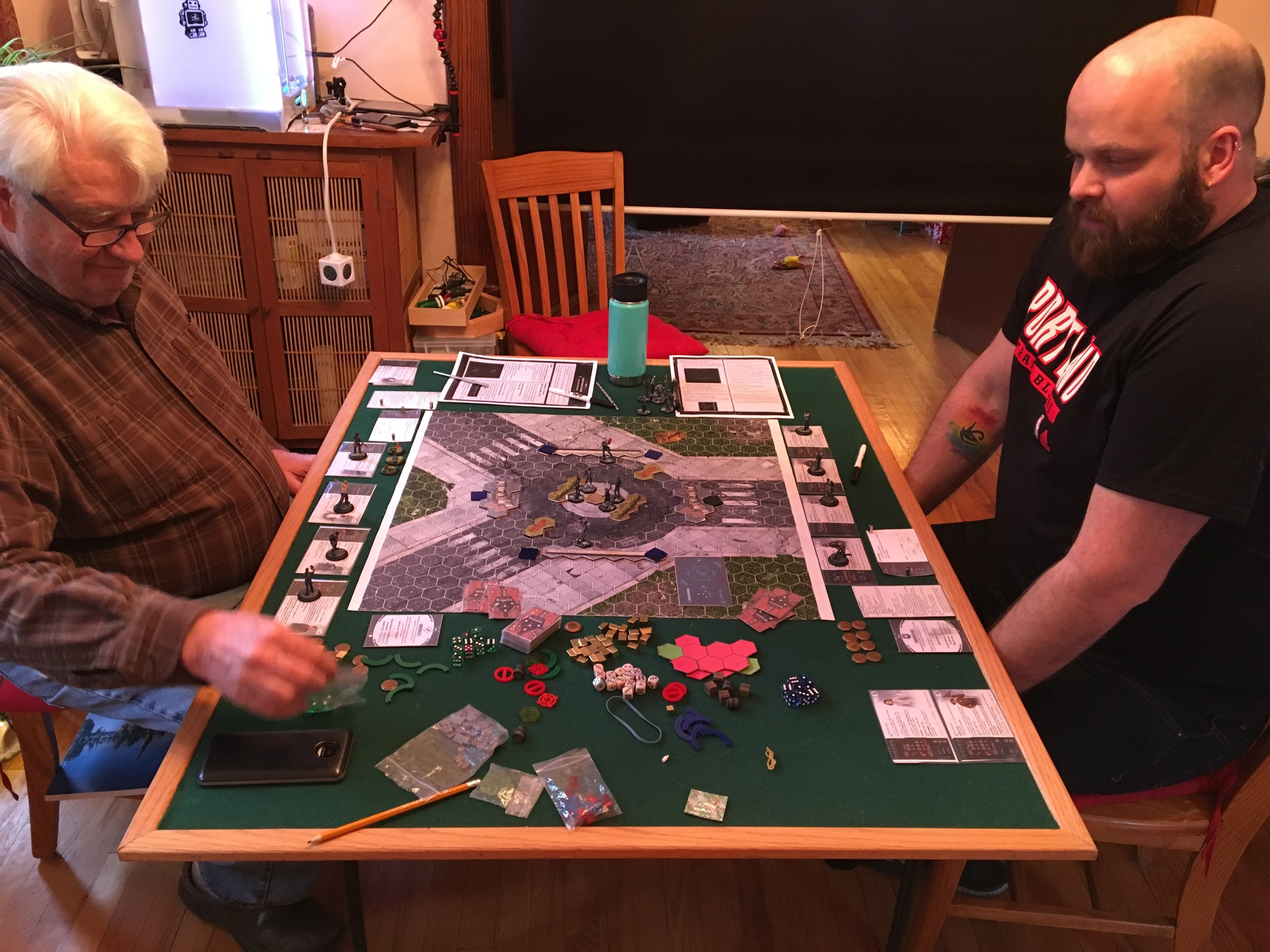 First ever blind playtest of Omicron Protocol! I was so nervous I nearly forgot to take a picture.