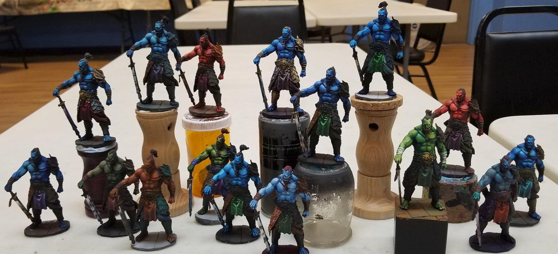 A lot of good looking models after a couple days of painting.