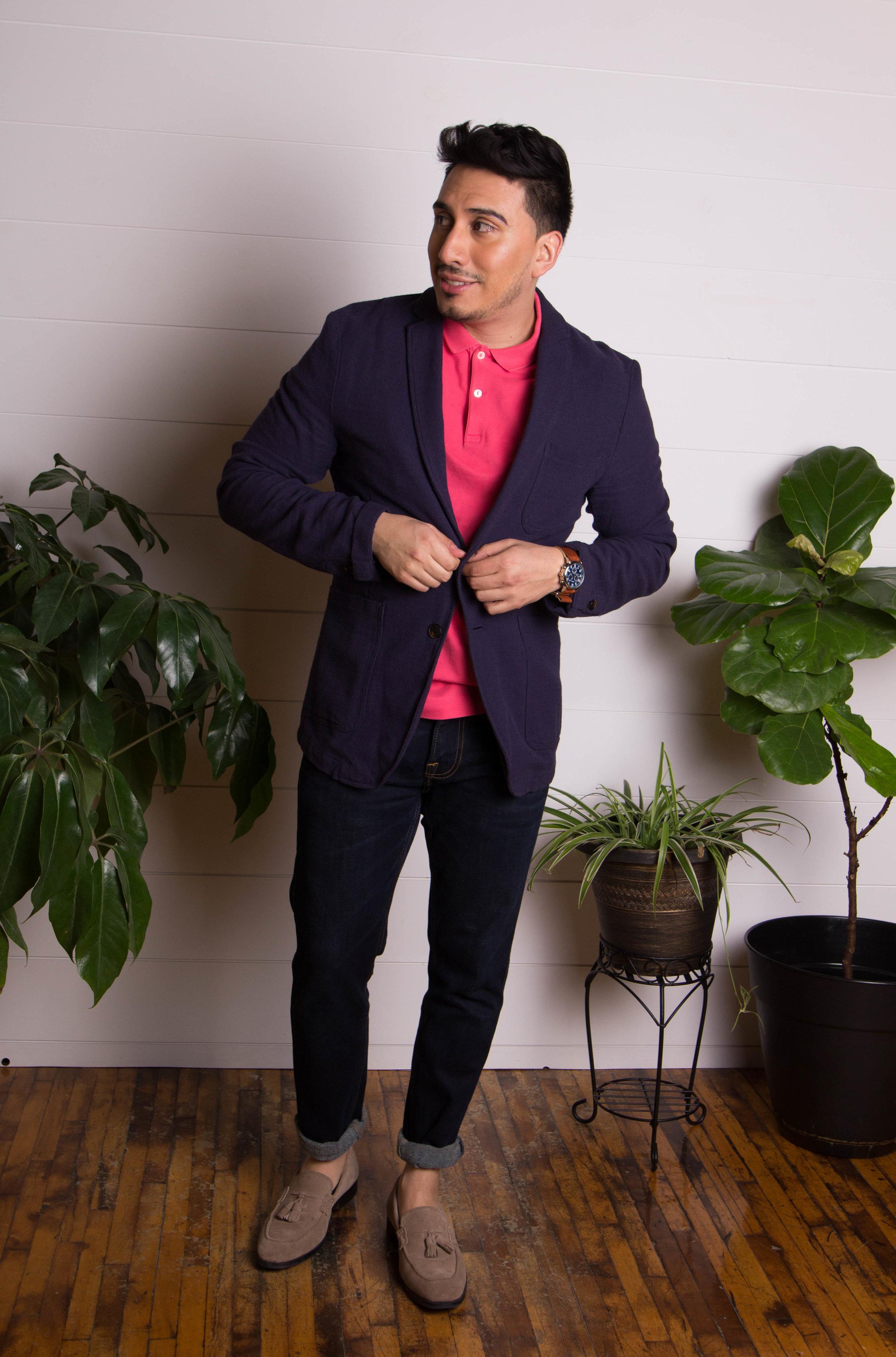 Publication: The Volk Creative Director: Meghanlee Phillips Photographer: Lucy Stange Wardrobe Stylist: Matthew Phillips Makeup & Hair: Jen Wiles & Ariana Pray Model: Ivan Martinez