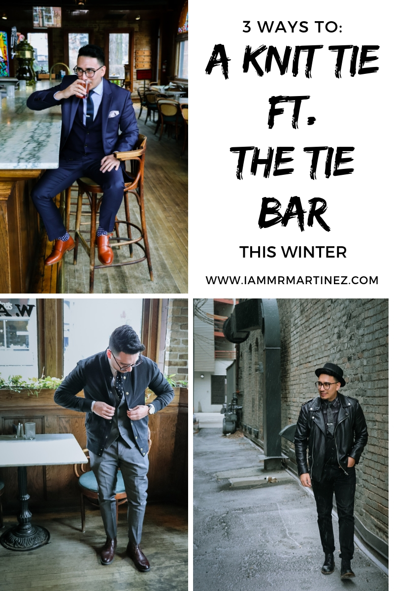 Three Ways To Style A Knit Tie ft. The Tie Bar | Men's Winter Outfits