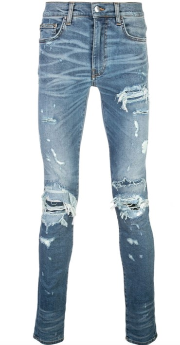 amiri distressed denim jeans back to school/college
