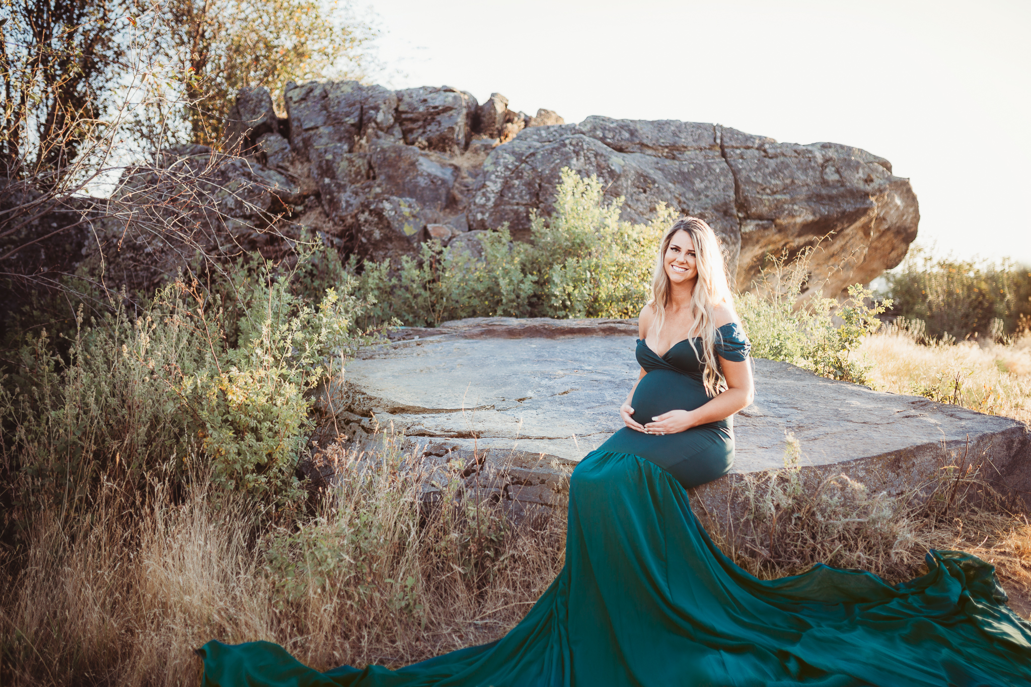 Green Monroe gown - Item has matching attachable sleevesFits sizes 2-14