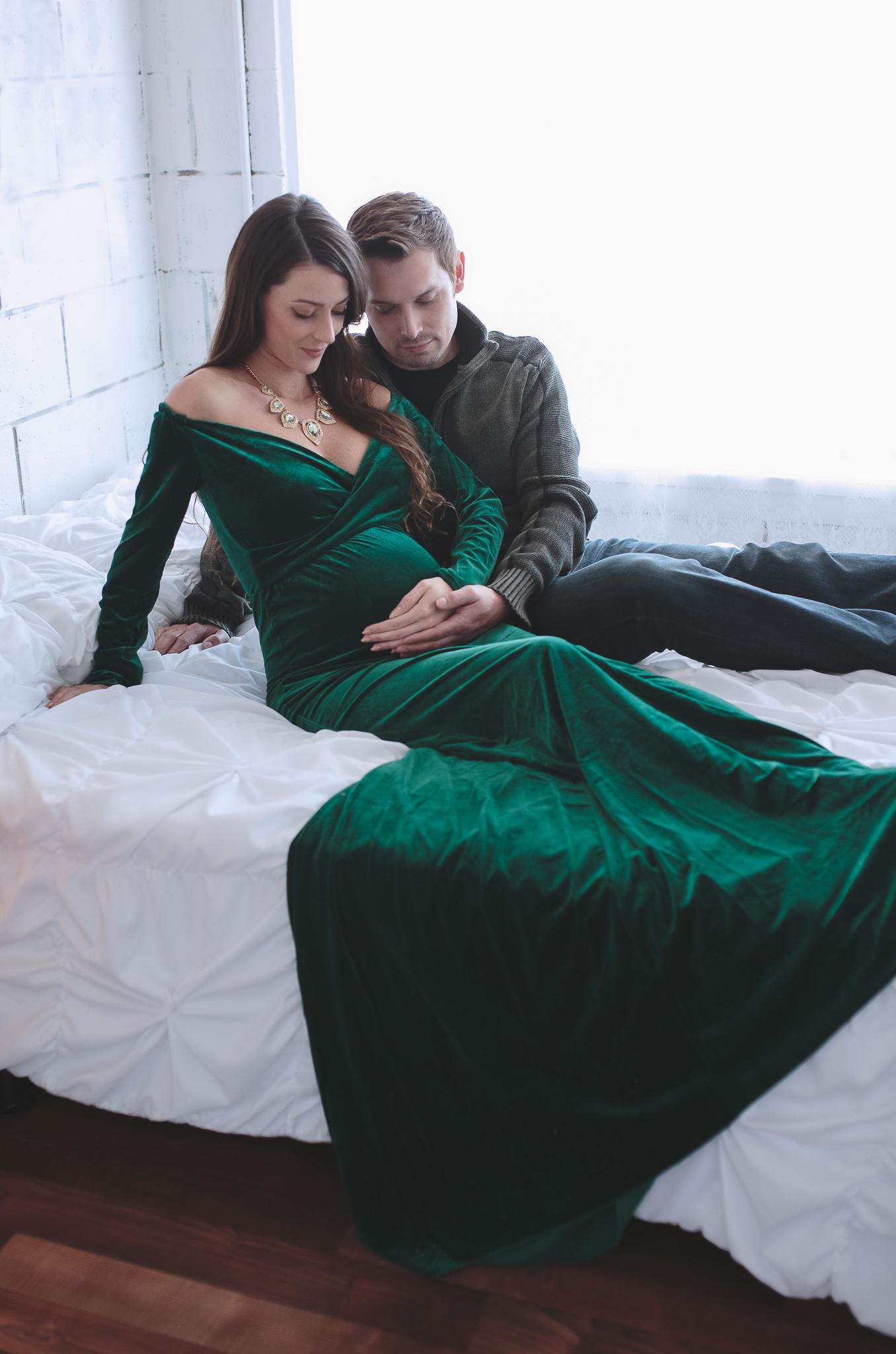 Velvet Green Gown - Size s-l