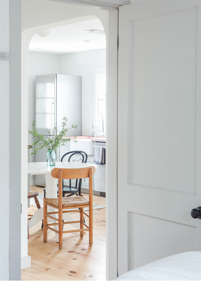 ﹎  - Original doors, windows and hardware were restored and repurposed, while new cabinetry and millwork were custom designed in keeping with the historic character of the home.