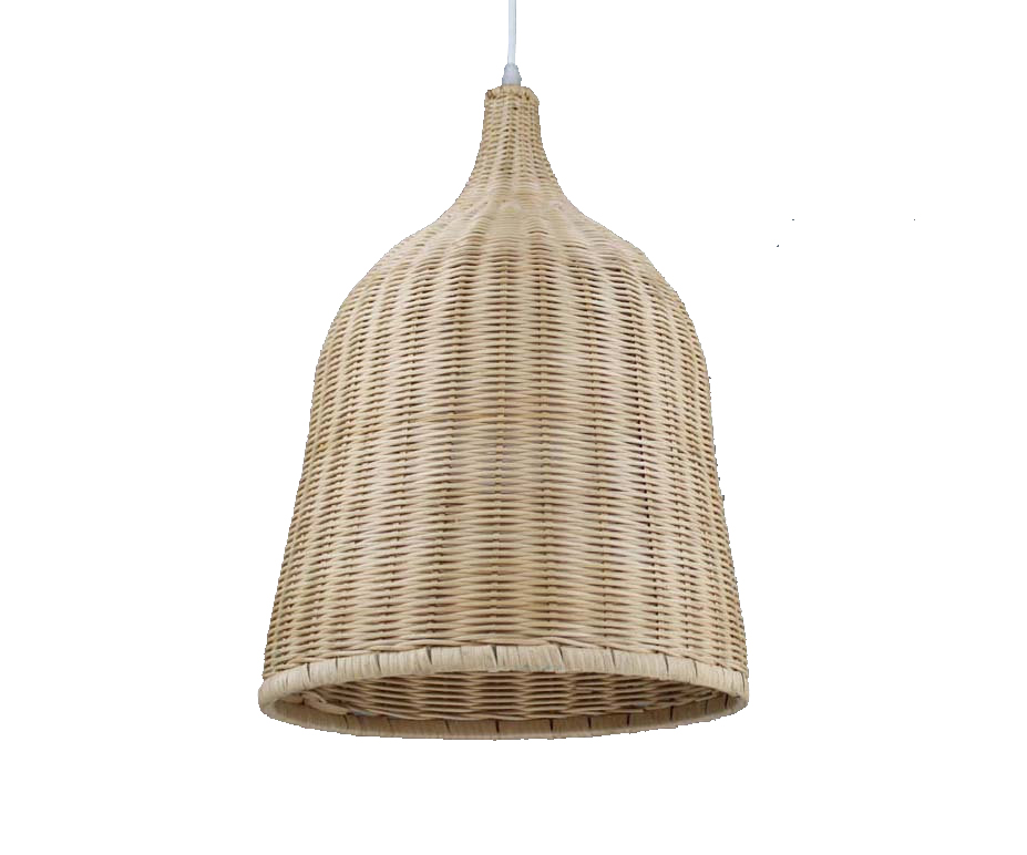 A long, bell-shaped Woven Pendantby Bruce Workshop, on Etsy. - $187 and up. Made in China.