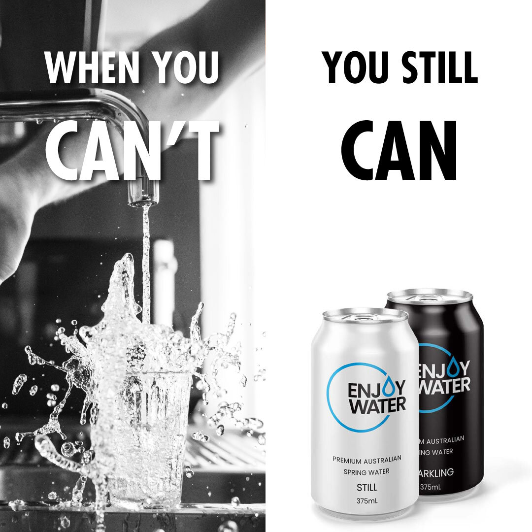 CANS ARE COOL! - Choose the infinitely recyclable aluminium can over single use plastic bottle.