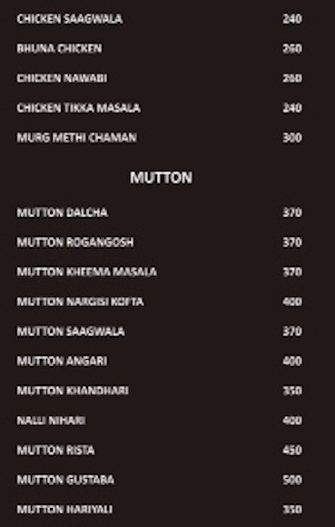 Food Menu | Mutton | NH7 Refuel Restaurant | Bangalore Highway