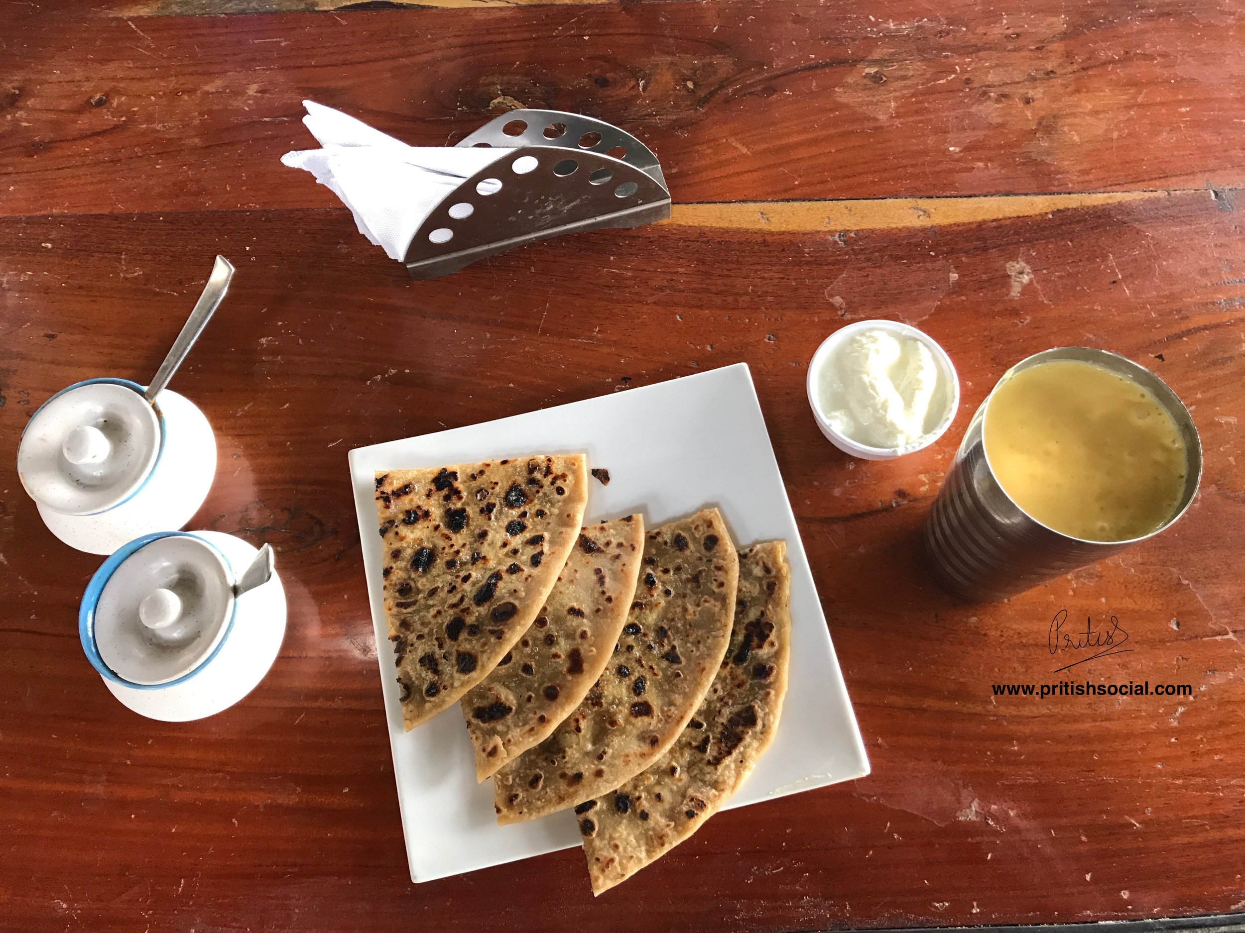 Aloo Paratha with Curd and Mango Lassi | NH7 Refuel Restaurant Specialities
